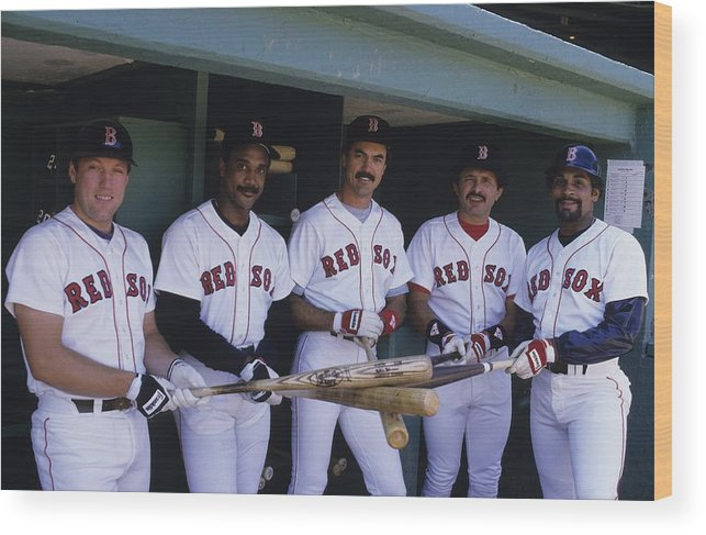 1980-1989 Wood Print featuring the photograph Jim Rice by Ronald C. Modra/sports Imagery