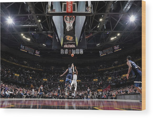 Nba Pro Basketball Wood Print featuring the photograph Jimmy Butler and Lebron James by David Liam Kyle
