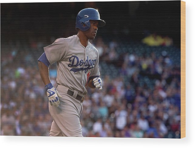 Second Inning Wood Print featuring the photograph Jimmy Rollins and Kyle Kendrick by Doug Pensinger