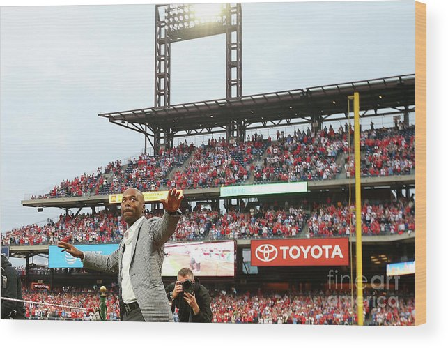 People Wood Print featuring the photograph Jimmy Rollins by Rich Schultz