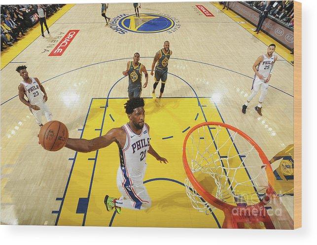 Nba Pro Basketball Wood Print featuring the photograph Joel Embiid by Noah Graham