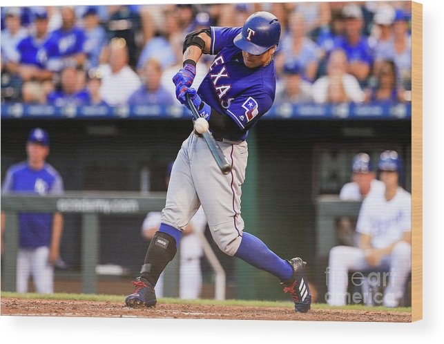Ninth Inning Wood Print featuring the photograph Joey Gallo and Shin-soo Choo by Brian Davidson