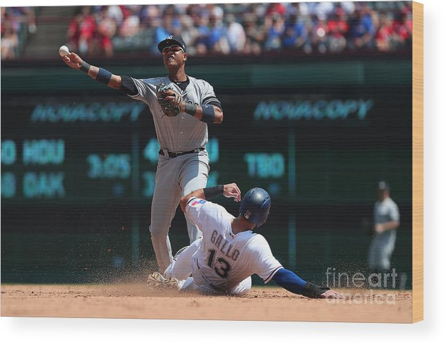 People Wood Print featuring the photograph Joey Gallo and Starlin Castro by Richard Rodriguez