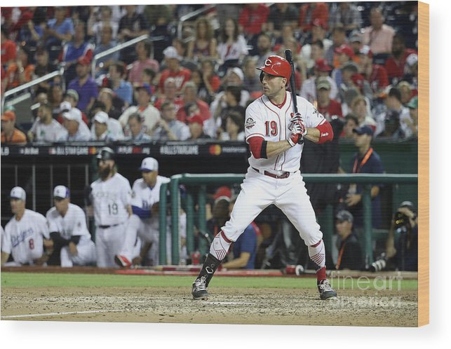 People Wood Print featuring the photograph Joey Votto by Rob Carr