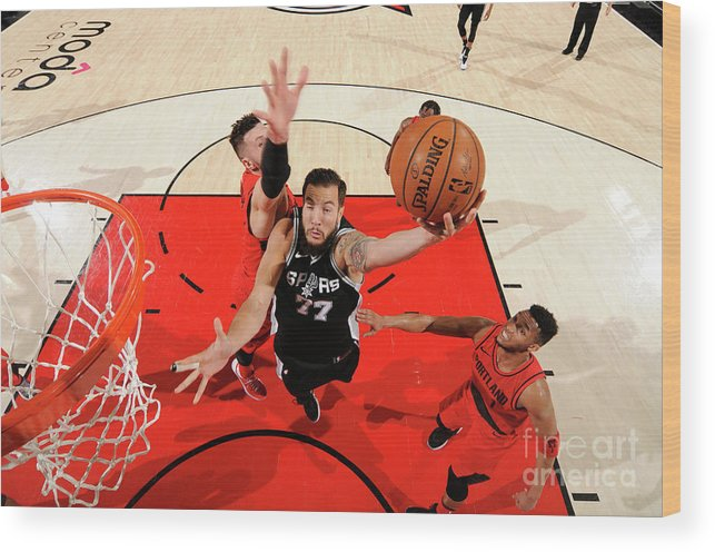 Nba Pro Basketball Wood Print featuring the photograph Joffrey Lauvergne by Cameron Browne