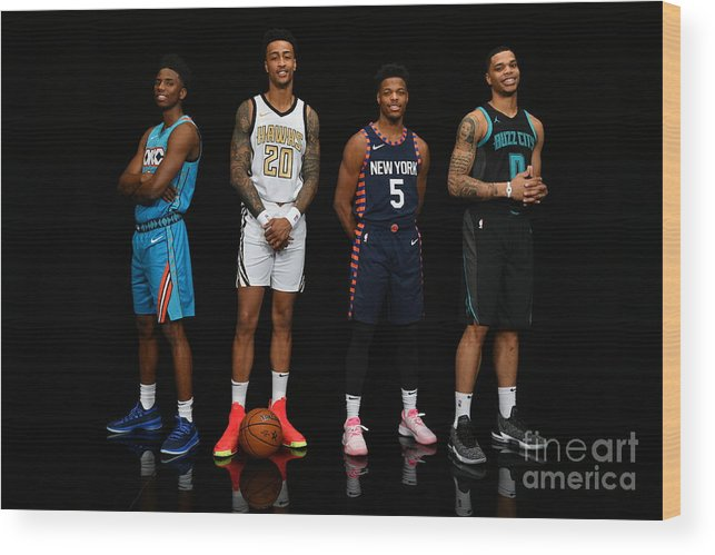 Nba Pro Basketball Wood Print featuring the photograph John Collins by Jesse D. Garrabrant