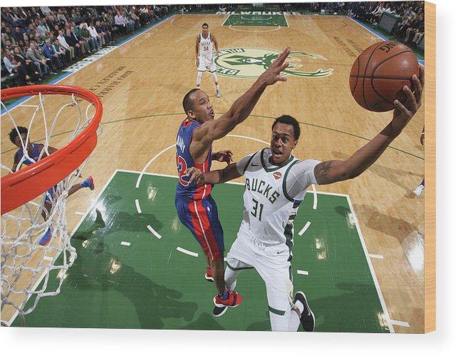 Nba Pro Basketball Wood Print featuring the photograph John Henson by Gary Dineen