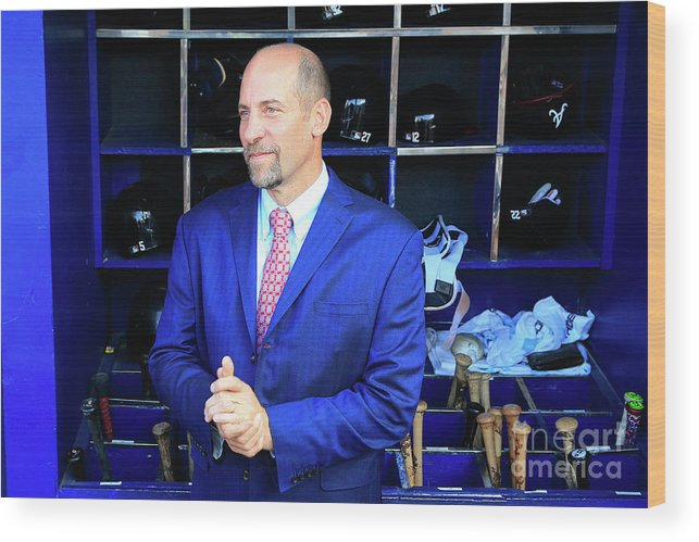 Atlanta Wood Print featuring the photograph John Smoltz by Daniel Shirey