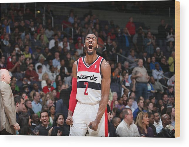 Nba Pro Basketball Wood Print featuring the photograph John Wall by Stephen Gosling