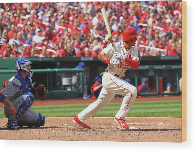 St. Louis Cardinals Wood Print featuring the photograph Jon Jay by Dilip Vishwanat