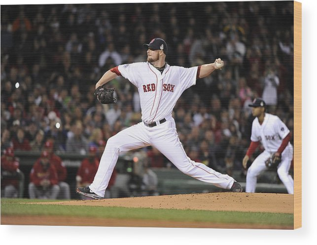 Playoffs Wood Print featuring the photograph Jon Lester by Ron Vesely