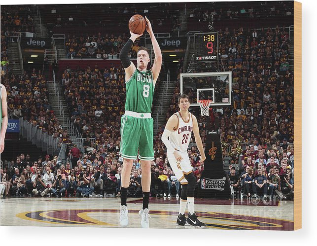 Playoffs Wood Print featuring the photograph Jonas Jerebko by Nathaniel S. Butler