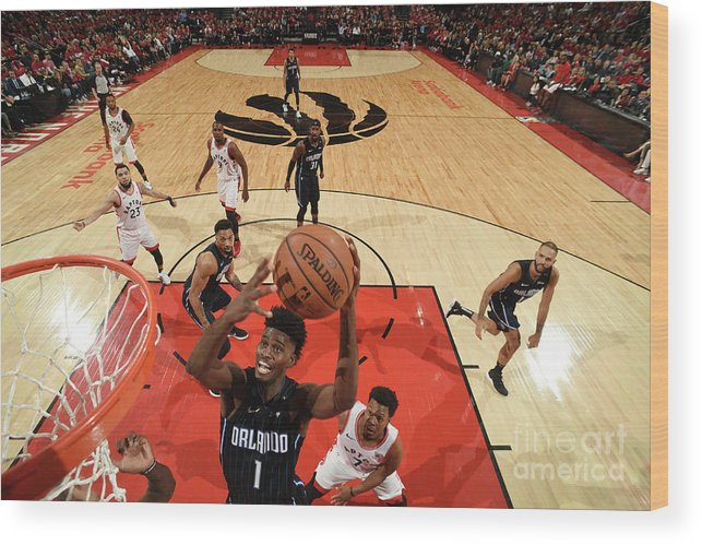 Playoffs Wood Print featuring the photograph Jonathan Isaac by Ron Turenne