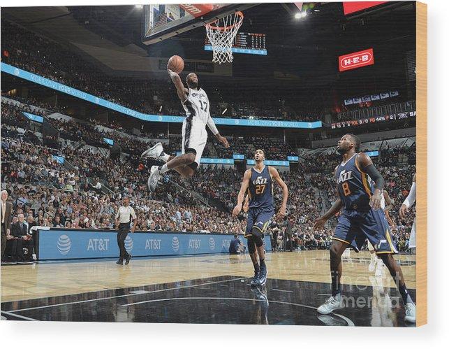 Nba Pro Basketball Wood Print featuring the photograph Jonathon Simmons by Mark Sobhani