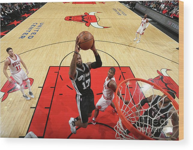 Nba Pro Basketball Wood Print featuring the photograph Jonathon Simmons by Nathaniel S. Butler
