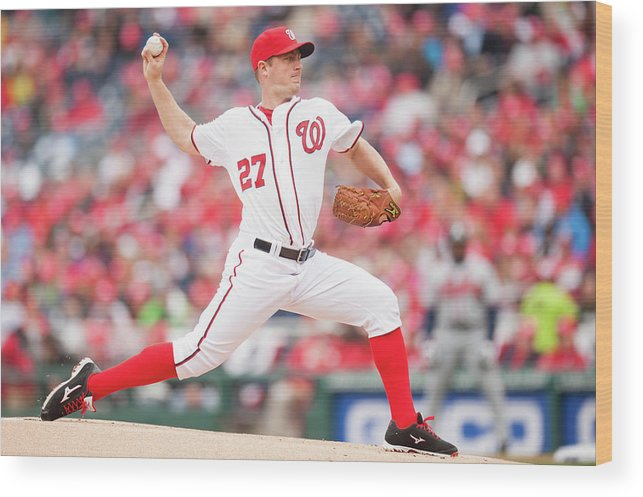 Baseball Pitcher Wood Print featuring the photograph Jordan Zimmermann by Mitchell Layton