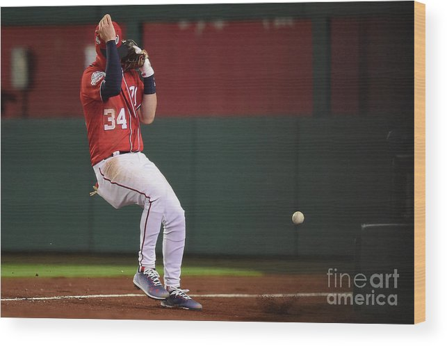 People Wood Print featuring the photograph Jose Reyes and Bryce Harper by Patrick Mcdermott