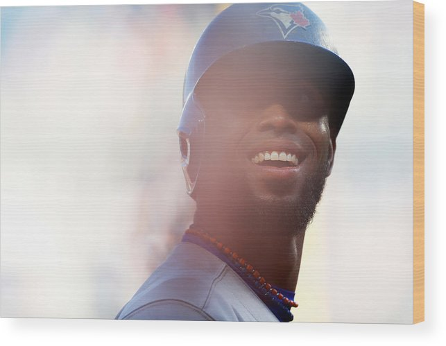 American League Baseball Wood Print featuring the photograph Jose Reyes by Mike Stobe