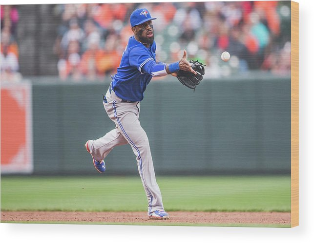 Double Play Wood Print featuring the photograph Jose Reyes by Rob Tringali