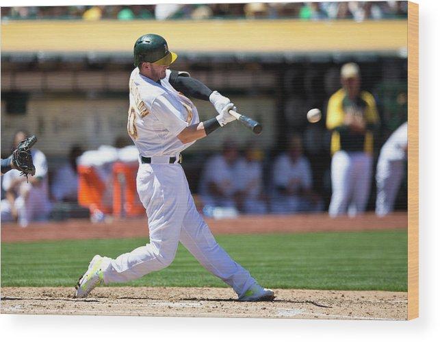 American League Baseball Wood Print featuring the photograph Josh Donaldson by Jason O. Watson