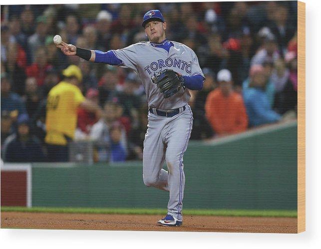 American League Baseball Wood Print featuring the photograph Josh Donaldson by Maddie Meyer