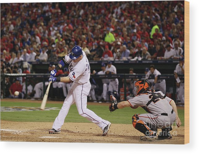People Wood Print featuring the photograph Josh Hamilton by Elsa