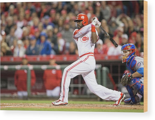 Great American Ball Park Wood Print featuring the photograph Josh Harrison and Brandon Phillips by Taylor Baucom