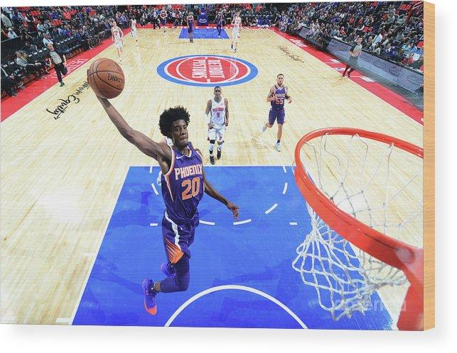 Nba Pro Basketball Wood Print featuring the photograph Josh Jackson by Chris Schwegler