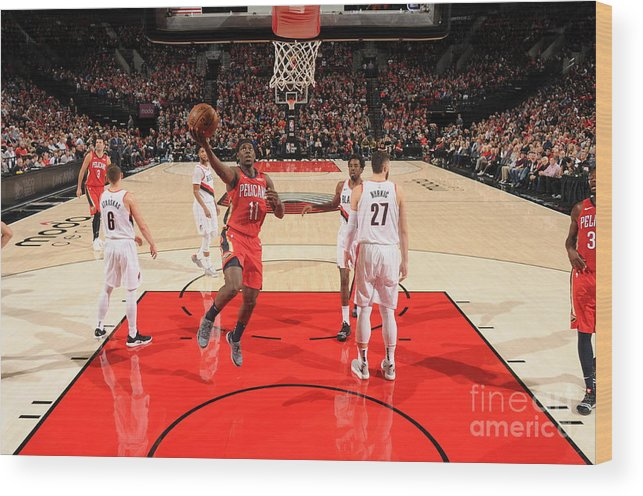 Nba Pro Basketball Wood Print featuring the photograph Jrue Holiday by Cameron Browne