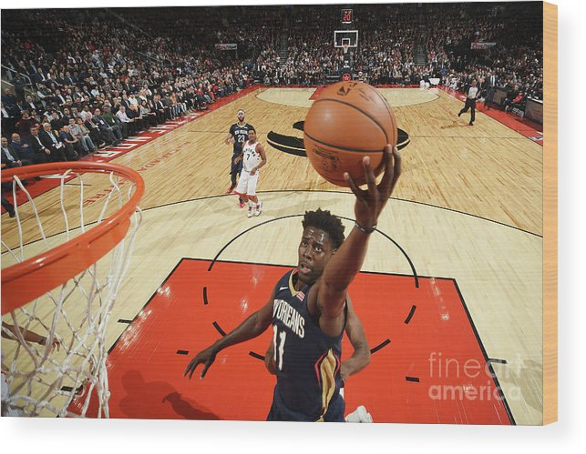 Nba Pro Basketball Wood Print featuring the photograph Jrue Holiday by Ron Turenne