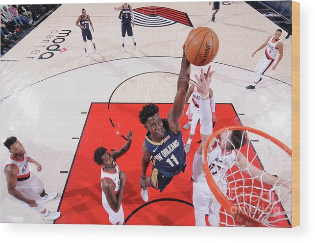 Playoffs Wood Print featuring the photograph Jrue Holiday by Sam Forencich