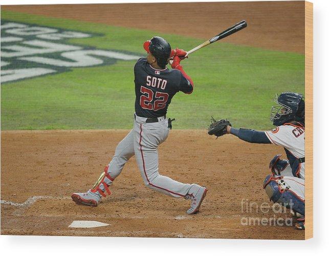 American League Baseball Wood Print featuring the photograph Juan Soto by Bob Levey