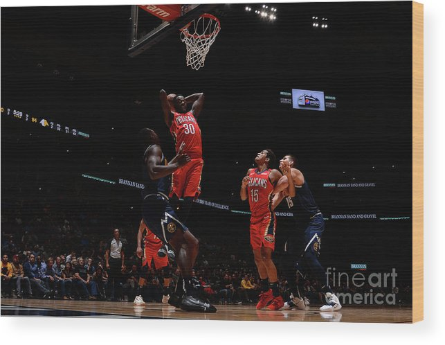 Nba Pro Basketball Wood Print featuring the photograph Julius Randle by Bart Young