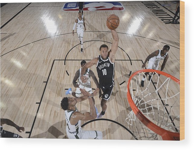 Nba Pro Basketball Wood Print featuring the photograph Justin Anderson by David Dow