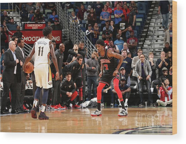 Smoothie King Center Wood Print featuring the photograph Justin Holiday by Layne Murdoch