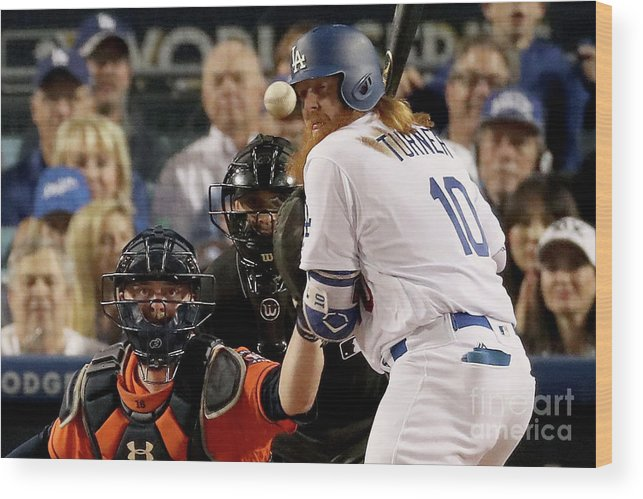 People Wood Print featuring the photograph Justin Turner by Christian Petersen