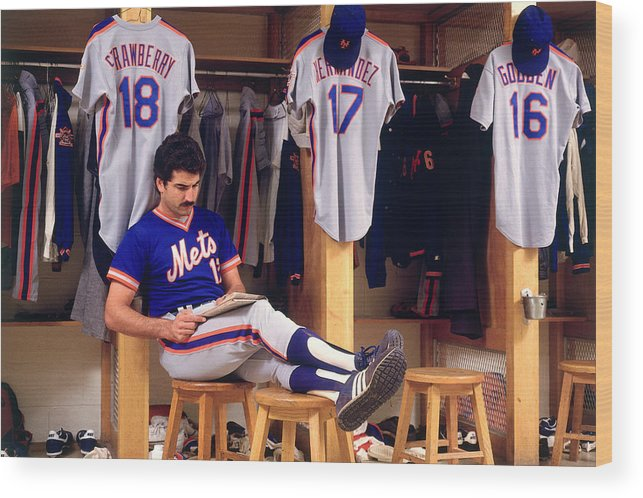 1980-1989 Wood Print featuring the photograph Keith Hernandez by Ronald C. Modra/sports Imagery