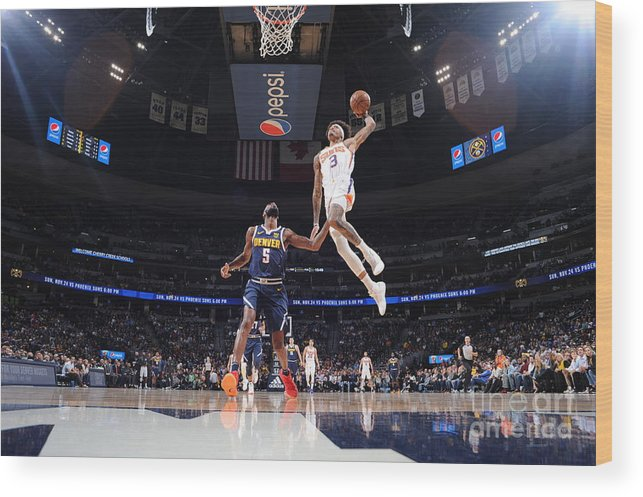 Nba Pro Basketball Wood Print featuring the photograph Kelly Oubre by Bart Young