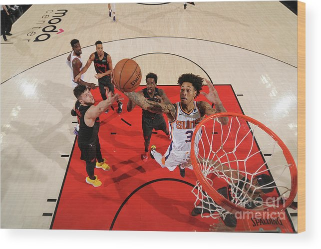 Nba Pro Basketball Wood Print featuring the photograph Kelly Oubre by Cameron Browne