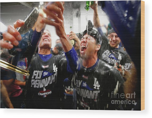 Championship Wood Print featuring the photograph Kenta Maeda by Jamie Squire