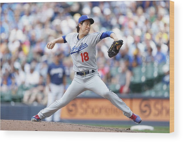 People Wood Print featuring the photograph Kenta Maeda by Joe Robbins