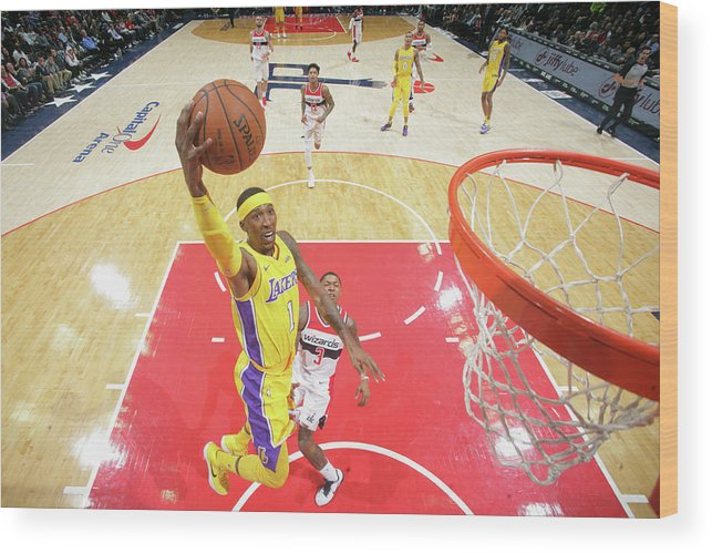 Nba Pro Basketball Wood Print featuring the photograph Kentavious Caldwell-pope by Ned Dishman