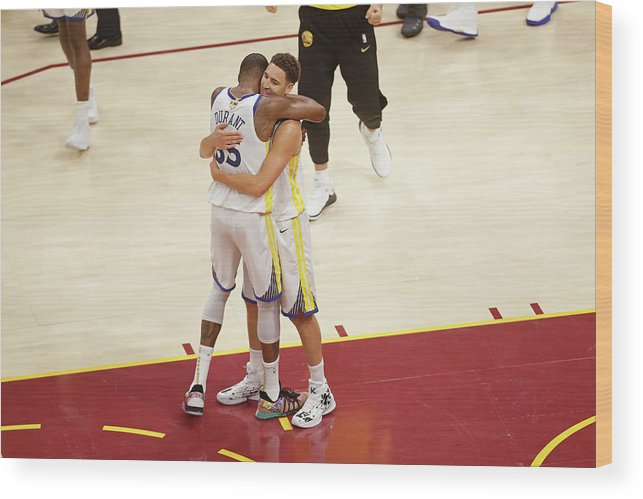 Playoffs Wood Print featuring the photograph Kevin Durant and Klay Thompson by Mark Blinch