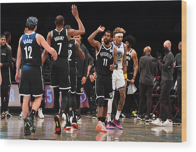 Nba Pro Basketball Wood Print featuring the photograph Kevin Durant and Kyrie Irving by Jesse D. Garrabrant