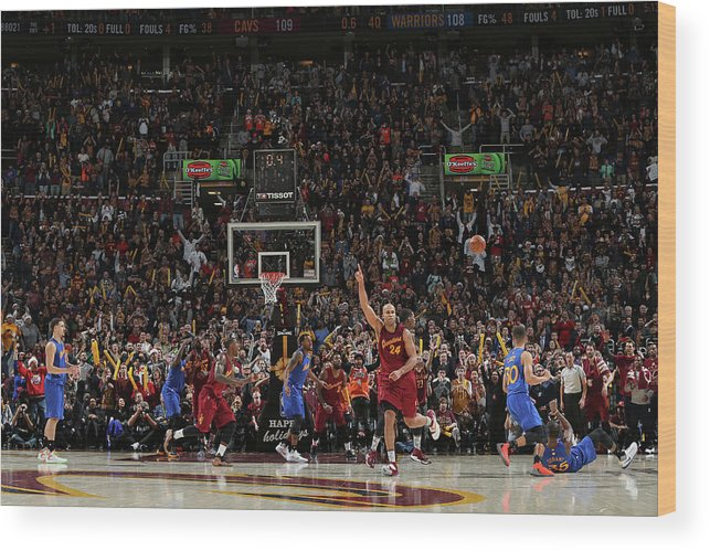 Nba Pro Basketball Wood Print featuring the photograph Kevin Durant and Richard Jefferson by David Sherman