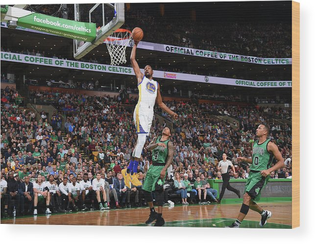 Nba Pro Basketball Wood Print featuring the photograph Kevin Durant by Brian Babineau