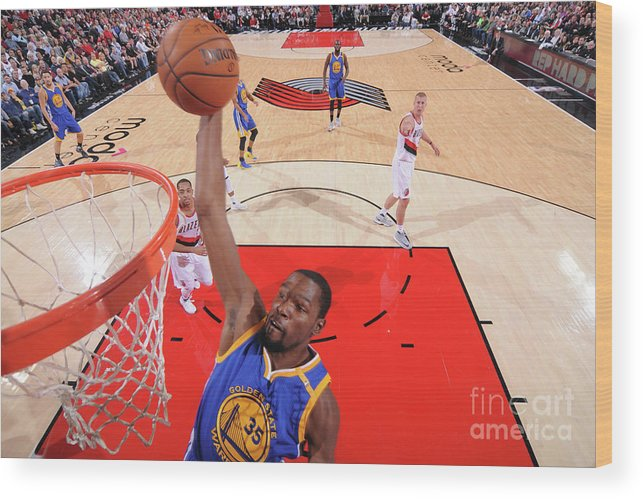 Nba Pro Basketball Wood Print featuring the photograph Kevin Durant by Sam Forencich
