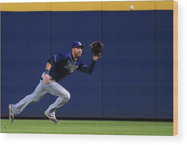 Atlanta Wood Print featuring the photograph Kevin Kiermaier by Daniel Shirey
