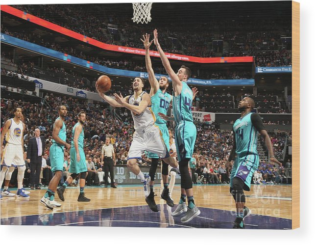 Nba Pro Basketball Wood Print featuring the photograph Klay Thompson by Kent Smith