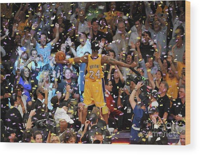 Playoffs Wood Print featuring the photograph Kobe Bryant by Garrett Ellwood